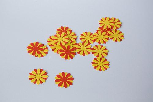 Kytka - červeno-žlutá - oboustranná