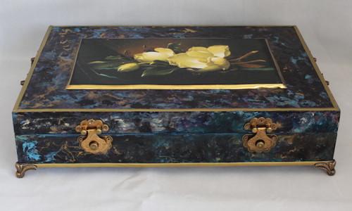 Dřevěná krabice  velká na A4