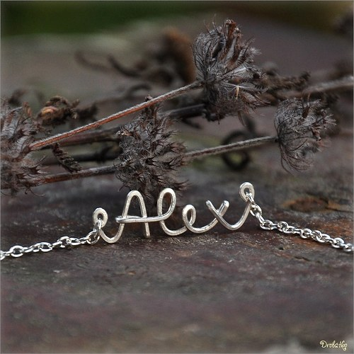 """Náhrdelník s menom / řetízek se jménem \""""Alex\"""""""