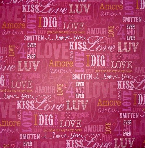 Papír Love and Kiss - kolekce Valentine