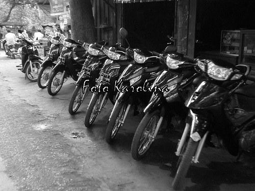 Fotografie Kambodža - Motorky
