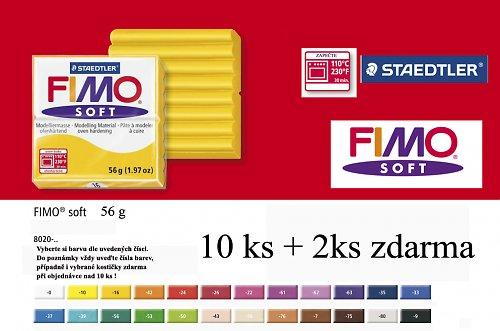 Fimo hmota soft základní - 57g. 10 + 2 zdarma !