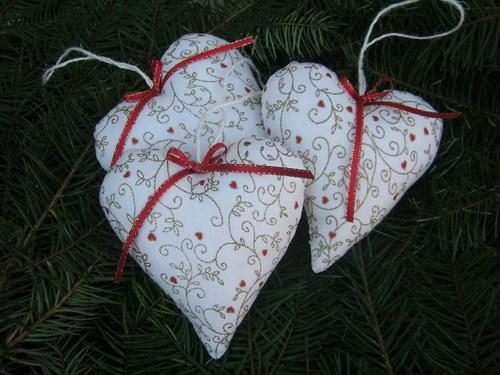 Dekorační srdíčka...vánoční