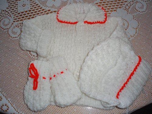 Pletená soupravička pro děti s lemem
