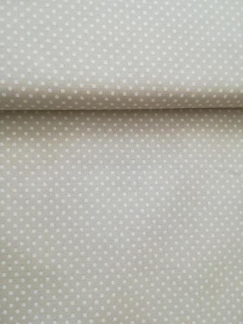 Vanilkové drobné puntíky na béžové