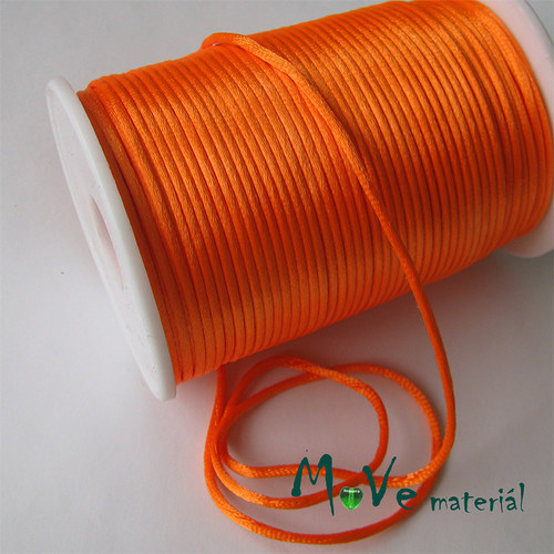 Šňůra Ø2mm refl. oranžová,1m