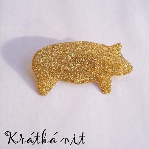 Zlaté prasátko - brož