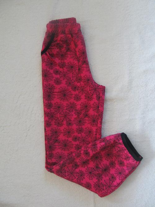 Volnočasové kalhoty -  pavučinky na malinové