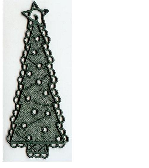 Záložka do knížky vánoční stromek