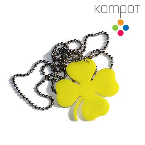 ČTYŘLÍSTEK, náhrdelník :: žlutý