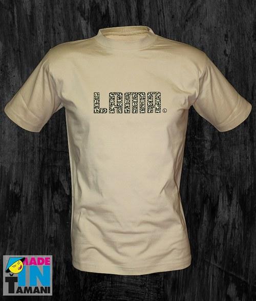 Pánské pískové tričko Lama 04