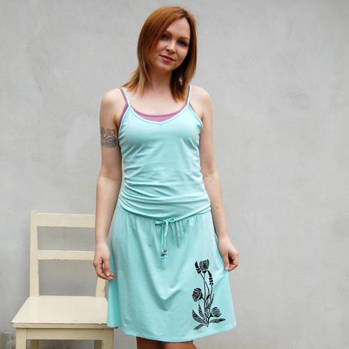 Šaty Chrpa – mentolová