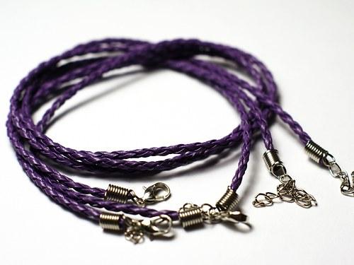 pletený řemínek fialový