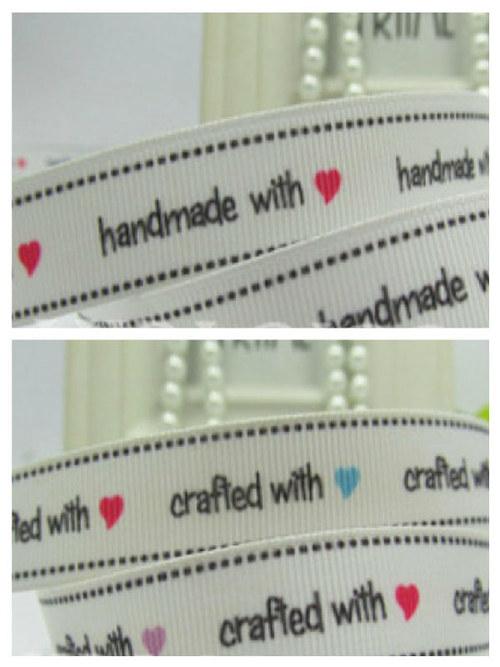 Stuha rypsová š.16 mm: HandMade with love