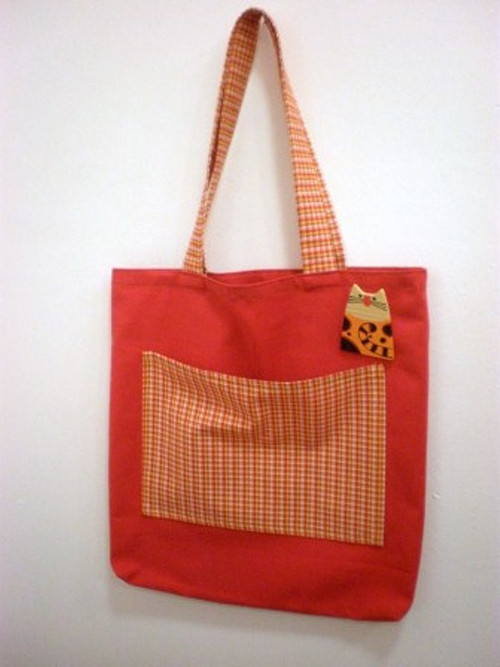 Nákupní taška s broží - kočka
