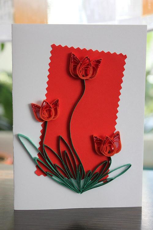 Tulipány v červeném ...