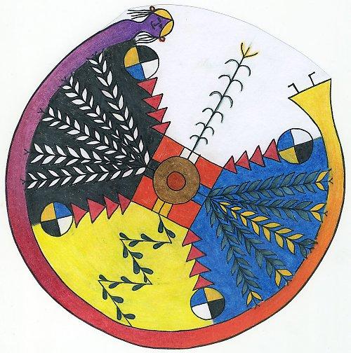 balíček - indiánská mandala