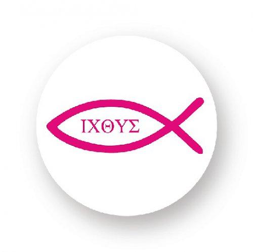 Placka s rybkou - ICHTYS růžová