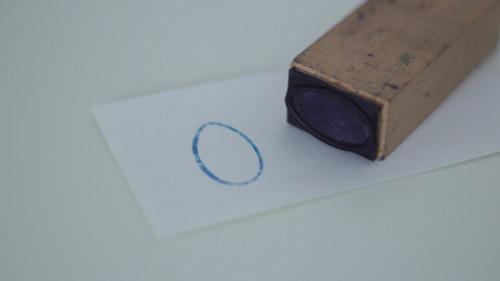 Dětské razítko s obrázkem, tiskátko vajíčko