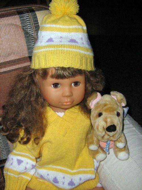 dětský svetr s čepičkou
