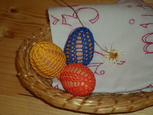 Háčkovaná VELIKONOČNÍ vajíčka vzorek č.2