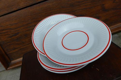 Jahodový dezert...porcelánové talířky
