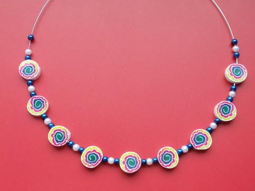 Duhová astra náhrdelník
