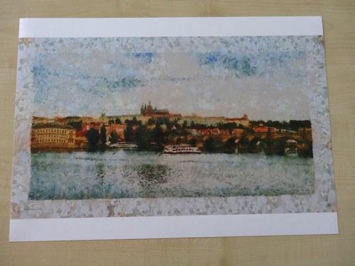 Praha s ledovými střípky