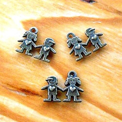 Zamilovaný Pár - 2ks - Bronzový