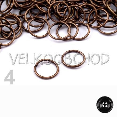 Spojovací kroužky pr.8 mm (250 ks) - staroměď