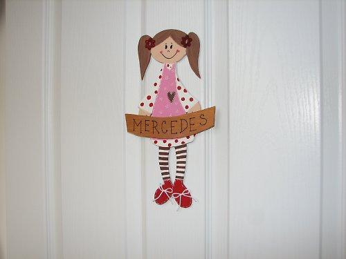 Dřevěná cedulka na dveře malé SLEČNY