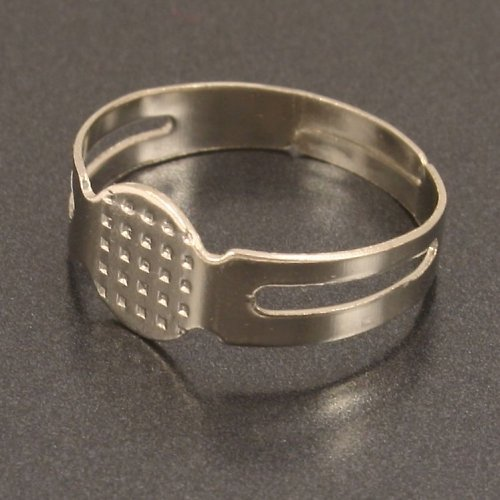 Komponent na výrobu prstenu, platina, 2ks