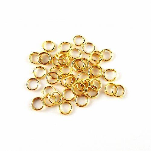 Spojovací kroužky zlaté 4 mm