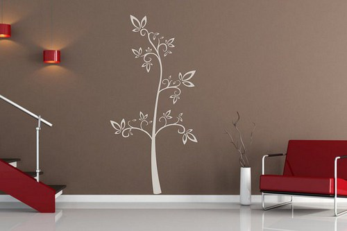 Strom 90x45cm Samolepíci dekorace na zeď 078n