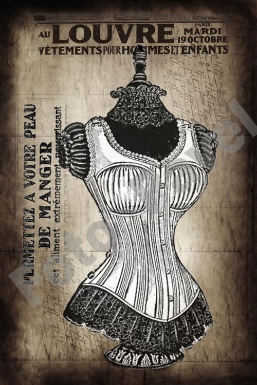 Vintage motiv - krejčovská panna