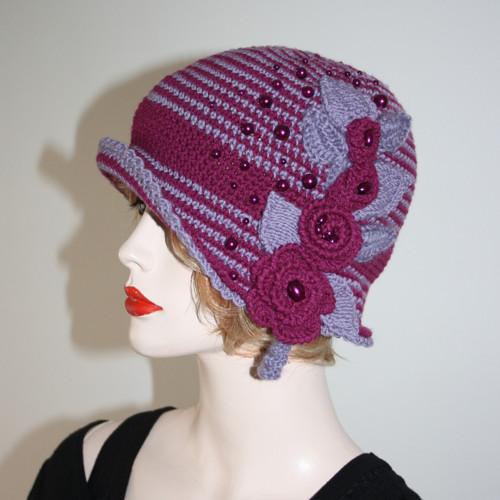 Proužkovaný klobouček
