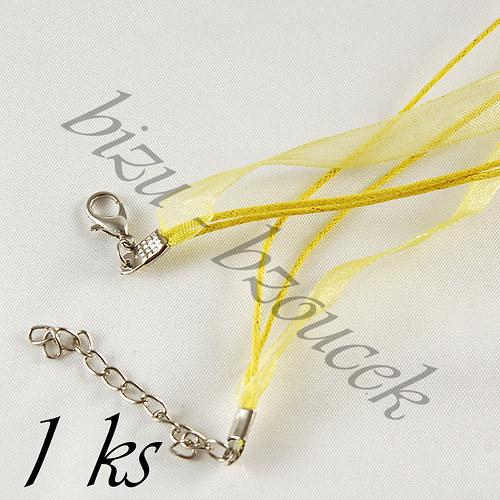 Světle žlutý náhrdelník - 1ks