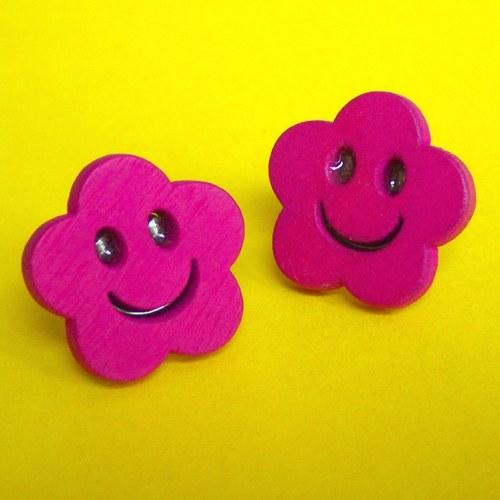 Náušnice z chirurgické oceli - Smile