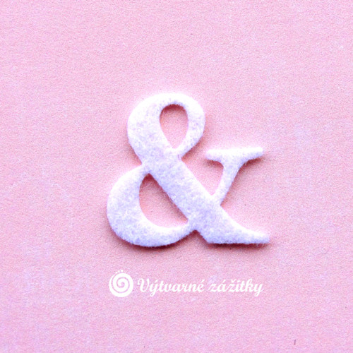 Symbol &  (ampersand) - střední - z plsti