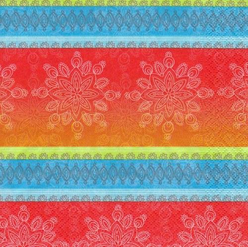 Ubrousek - květinové vzory a pruhy