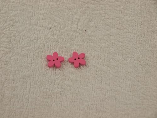 Knoflík kytička růžová 5ks