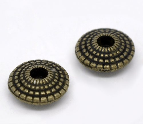 korálek  disk/ starobronz/ 8mm/ 10ks