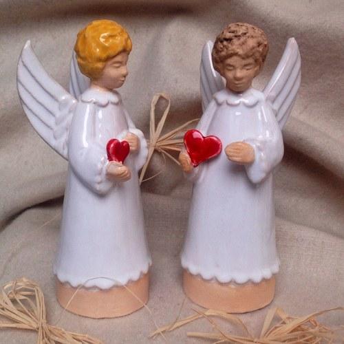 anděl se srdcem na dlani - zvonek