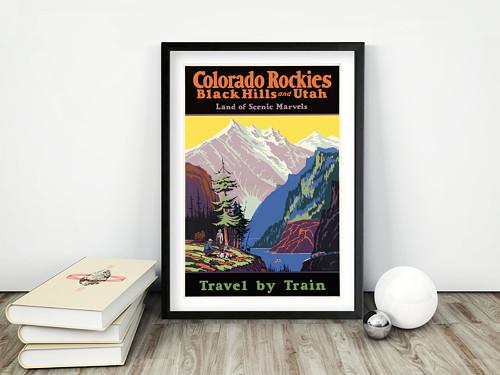 Vintage plakát Colorado Rockies