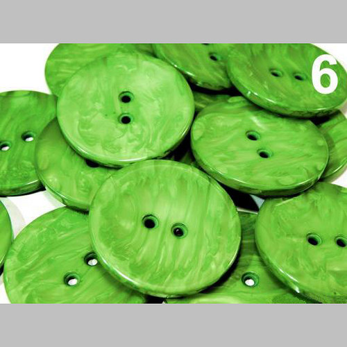 "Knoflík PEARL vel. 60\"" (bal. 5 ks) - zelená"
