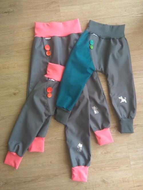 Jarní/podzimní softshellové kalhoty-vyber si barvu