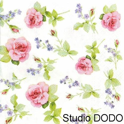 Ubrousek Růže a fialky