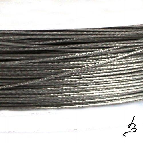 Ocelové lanko stříbrné 0,38