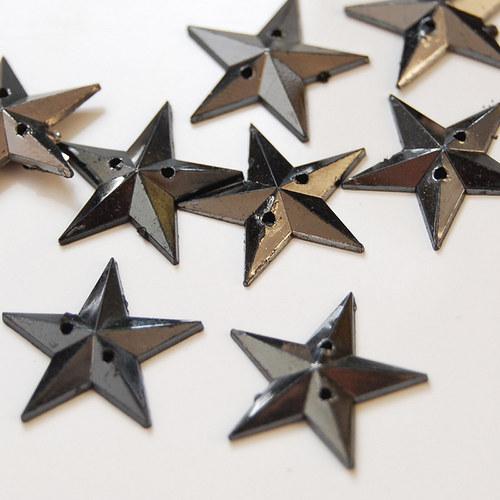 Našívací kamínek Hvězda platinová 10ks NK-150