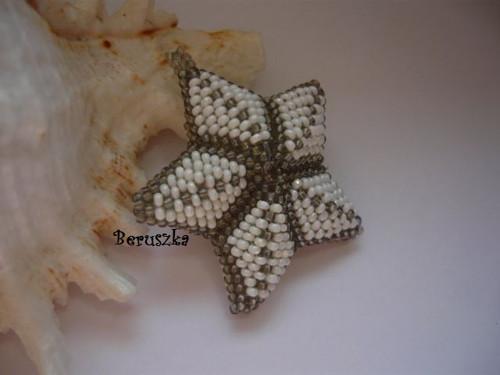 Vánoční 3D hvězda - bílo-stříbrná